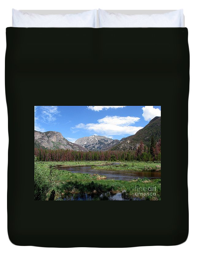 Nature Duvet Cover featuring the photograph Quiet by Amanda Barcon