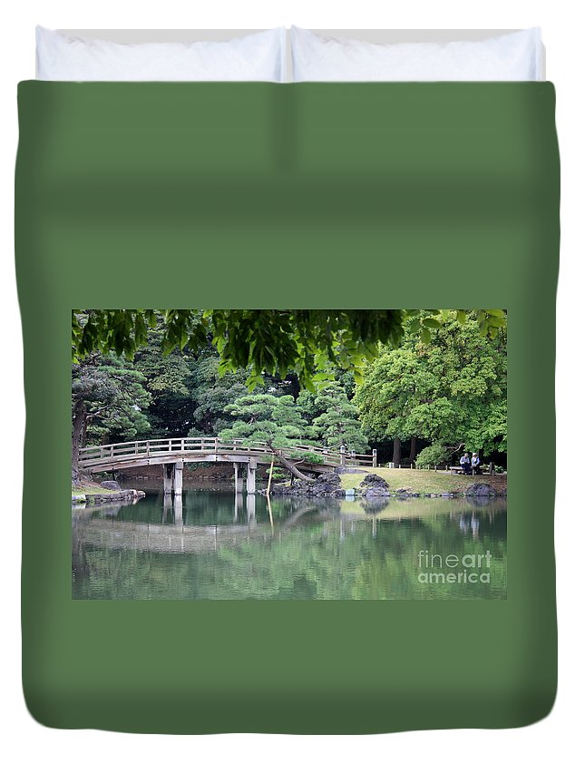 Japan Duvet Cover featuring the photograph Quiet Day In Tokyo Park by Carol Groenen