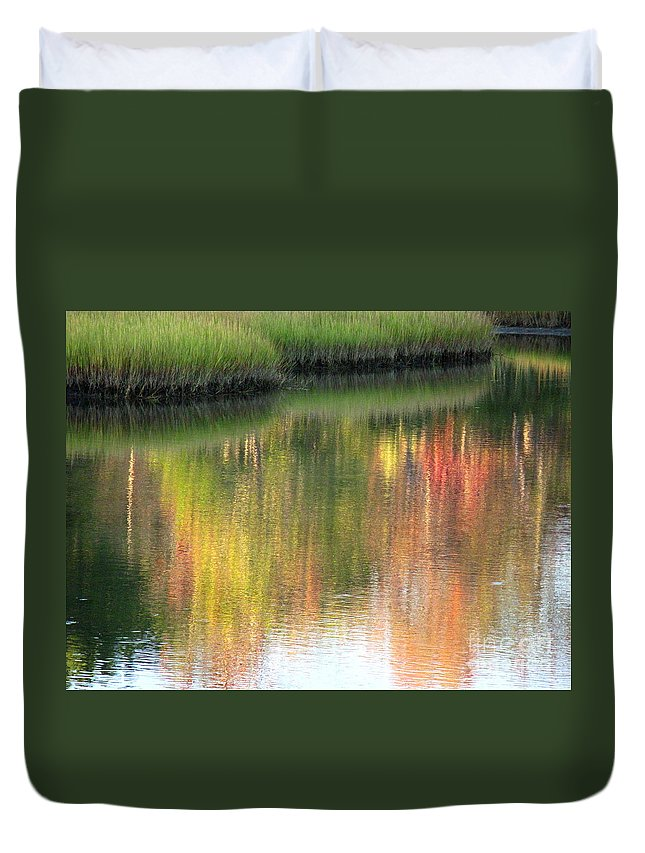Water Duvet Cover featuring the photograph Quiet Inspiration by Sybil Staples