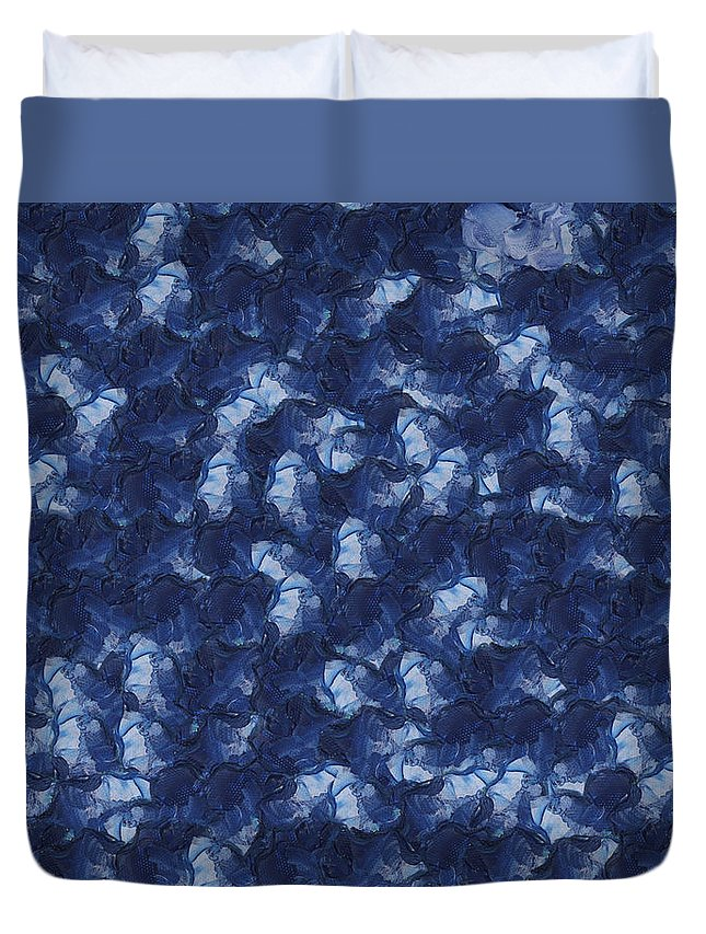 Abstract Duvet Cover featuring the photograph Quilled Flowers by Ashish Agarwal