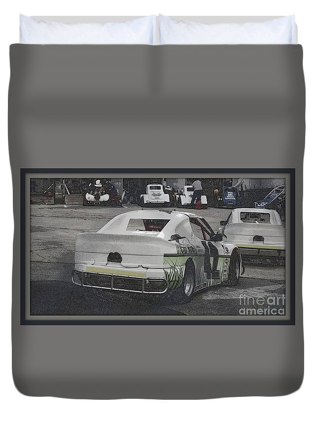 Race Duvet Cover featuring the photograph Race Cars by Anita Goel
