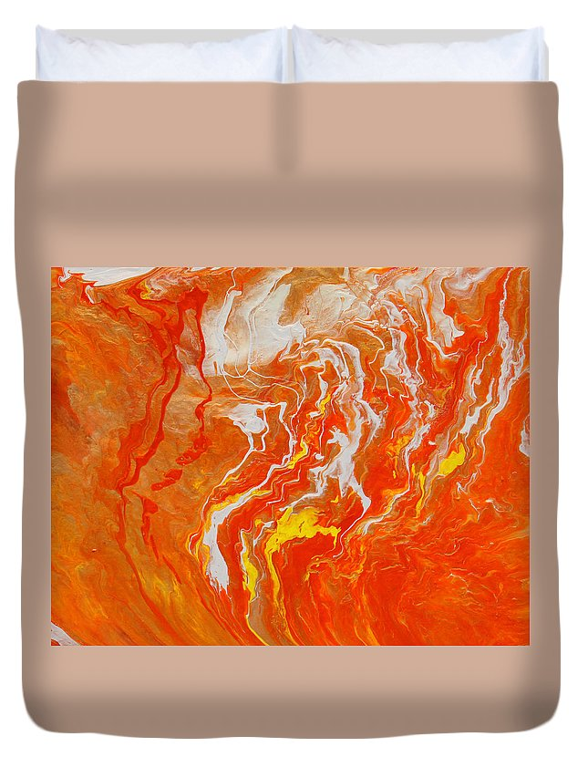 Fusionart Duvet Cover featuring the painting Radiance by Ralph White