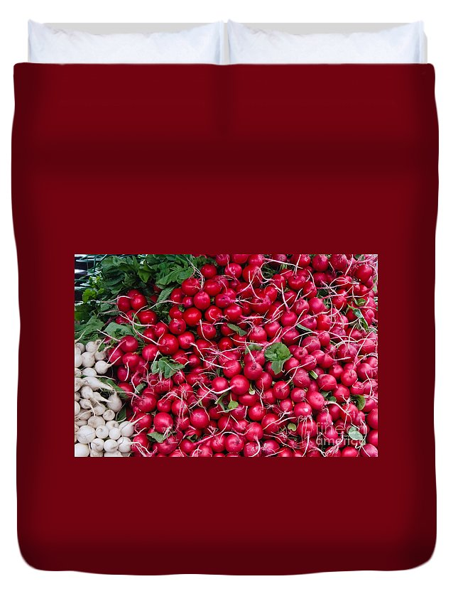 Radish Duvet Cover featuring the photograph Radishes by Thomas Marchessault