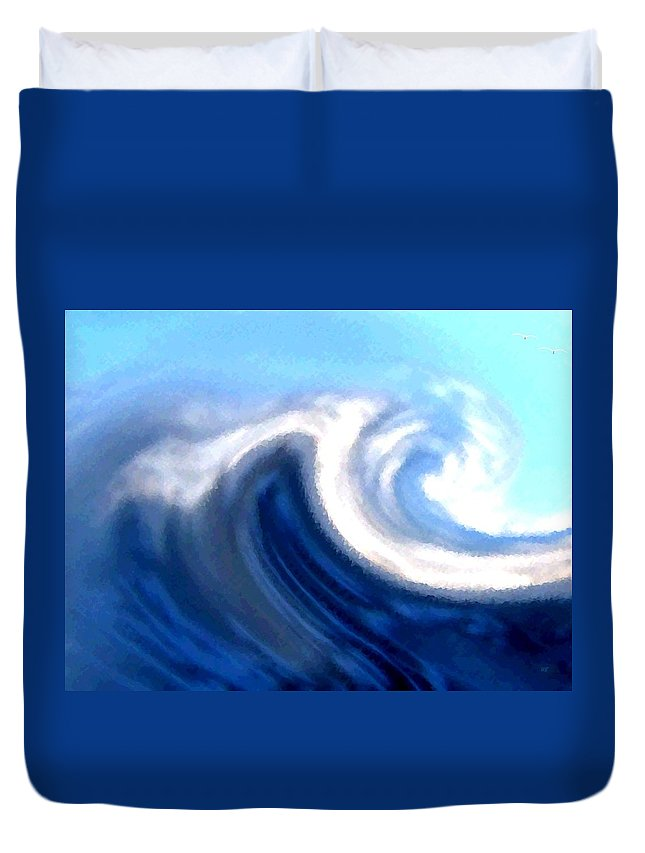 Abstract Duvet Cover featuring the digital art Raging Sea by Will Borden