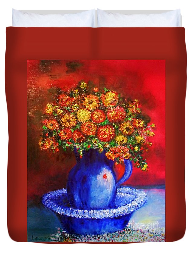 Flowers Duvet Cover featuring the photograph Rags by Laurie Lundquist