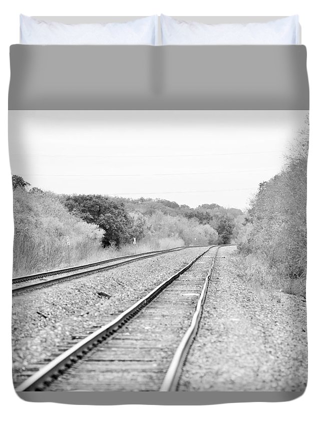 Duvet Cover featuring the photograph Rails 004 by Jeff Downs