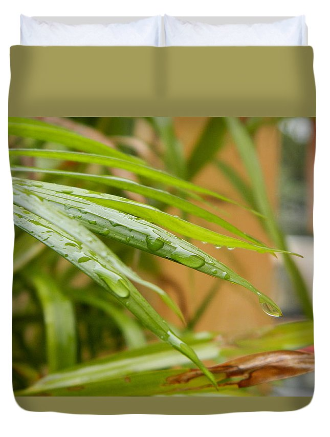 Duvet Cover featuring the photograph Rain Droppe1 by Rajesh R