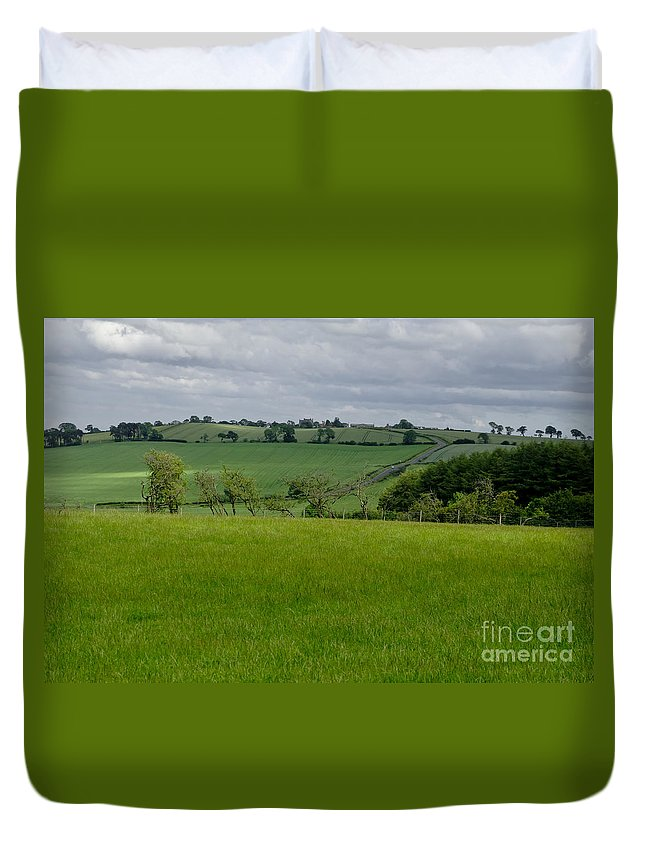 Beecraigs Duvet Cover featuring the photograph Rain Is Over. by Elena Perelman