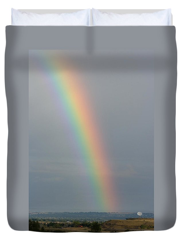 Boulder Duvet Cover featuring the photograph Rainbow Communications by James BO Insogna