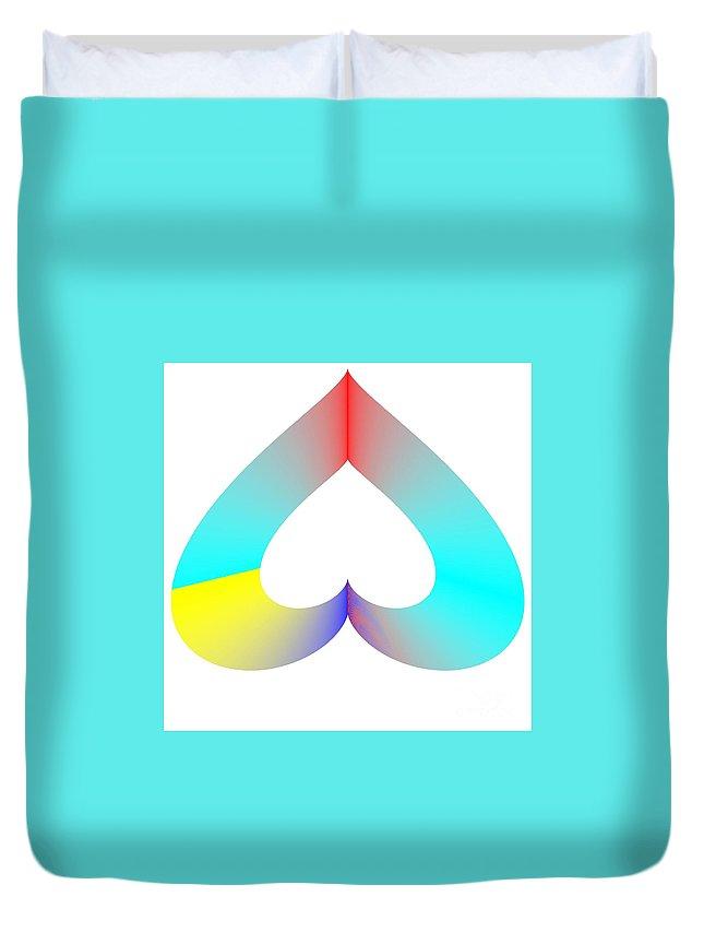 Sos Rainbow Duvet Cover featuring the digital art Rainbow Sos by Michael Skinner