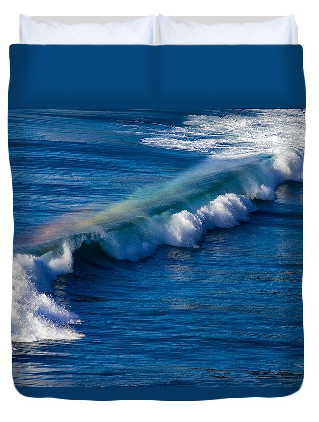 Rainbow Duvet Cover featuring the photograph Rainbow Wave by Randall Ingalls