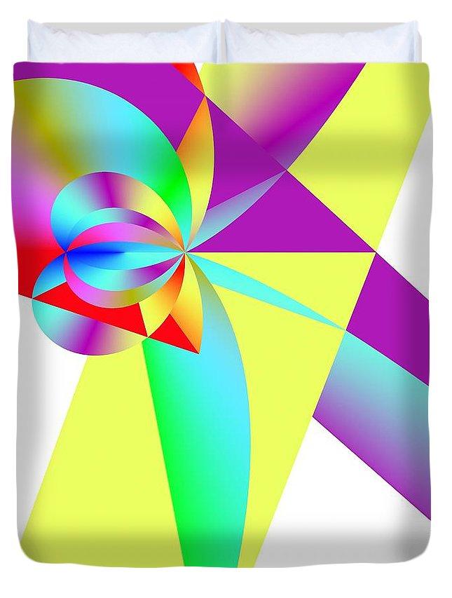 Rainbow Wedding Gift Duvet Cover featuring the digital art Rainbow Wedding Gift by Michael Skinner