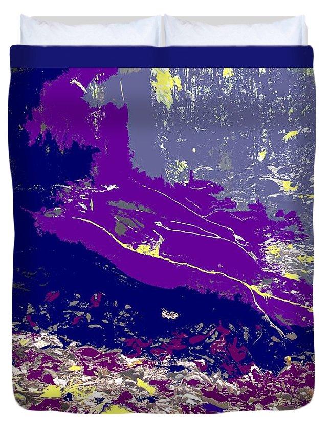 Rainforest Duvet Cover featuring the photograph Rainforest Shadows by Ian MacDonald