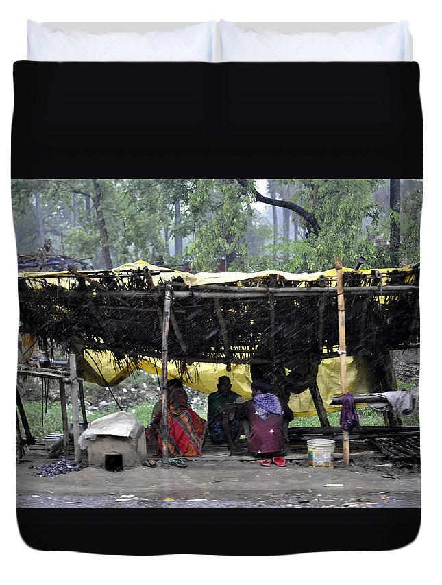 Rural Duvet Cover featuring the photograph Rainy Day by Bliss Of Art