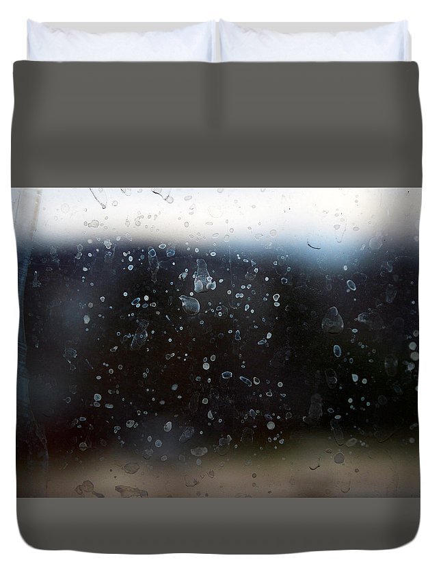 Rain Duvet Cover featuring the photograph Rainy Days by Lindsey McDonald