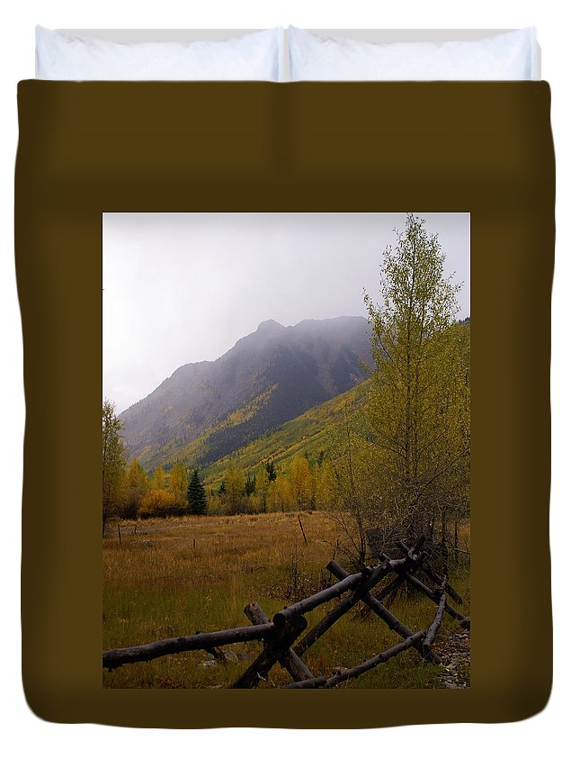 Fall Colors Duvet Cover featuring the photograph Rainy Fall by Marty Koch