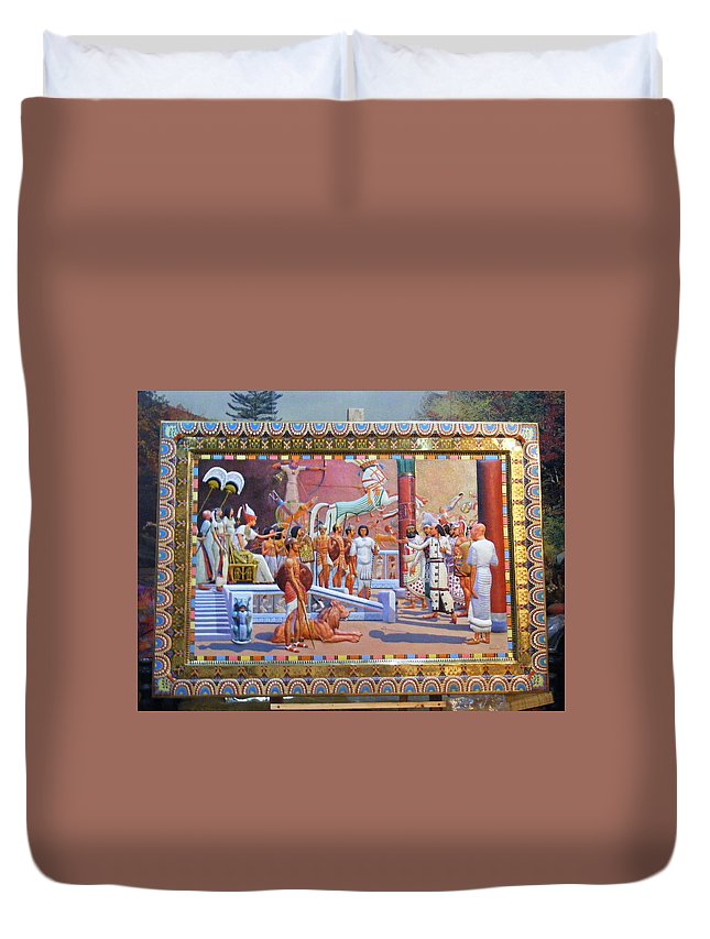 Ramses Ii (aka Ramses Ii Duvet Cover featuring the relief Ramses The Great by Kamal Romeih