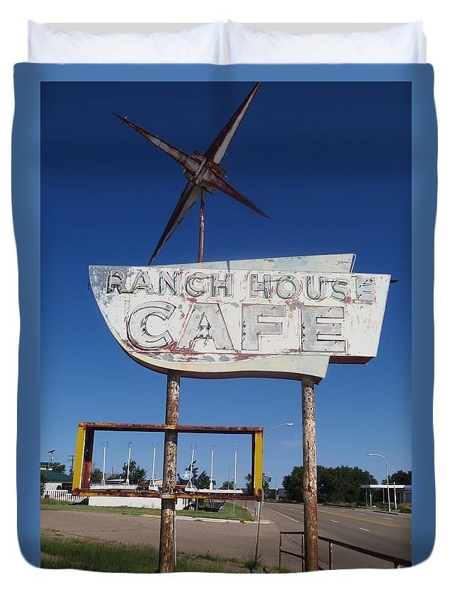 Ranch House Cafe Duvet Cover featuring the photograph Ranch House Cafe by Gia Marie Houck