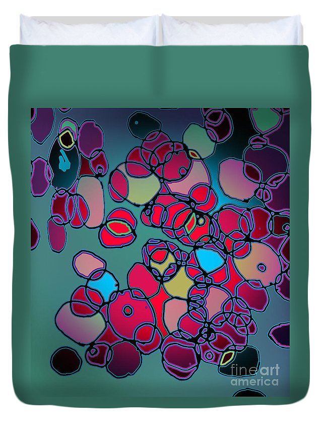 Cell Duvet Cover featuring the digital art Random Cells by Andy Mercer