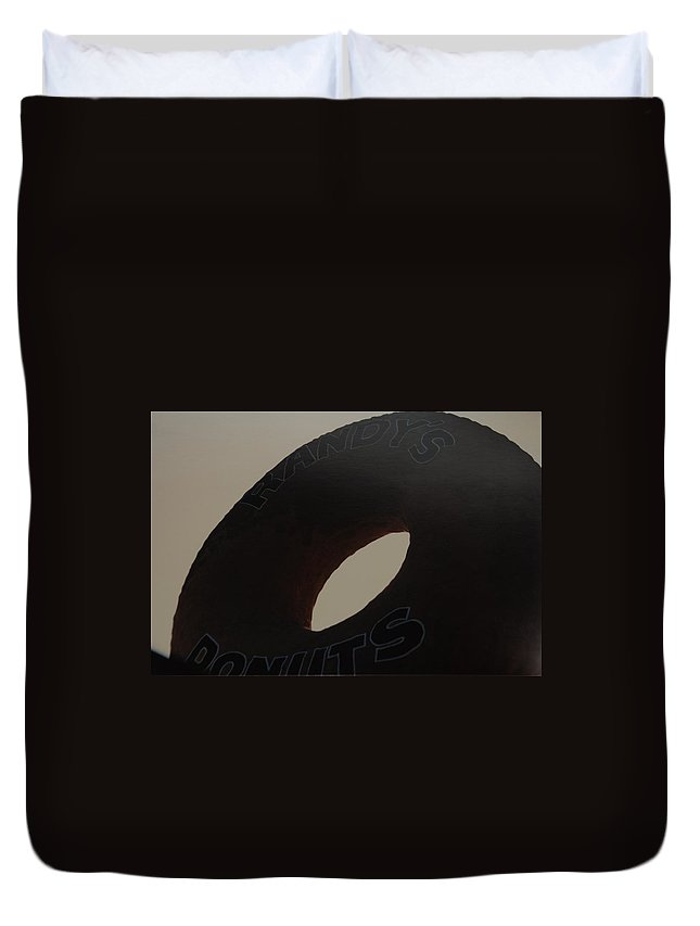 Randys Donuts Duvet Cover featuring the photograph Randys Donuts by Rob Hans