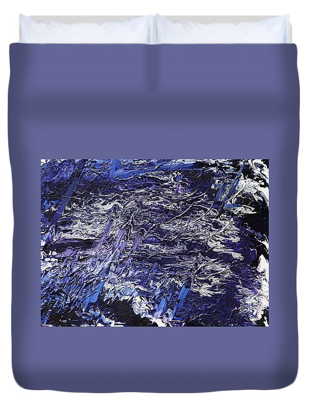 Fusionart Duvet Cover featuring the painting Rapid by Ralph White