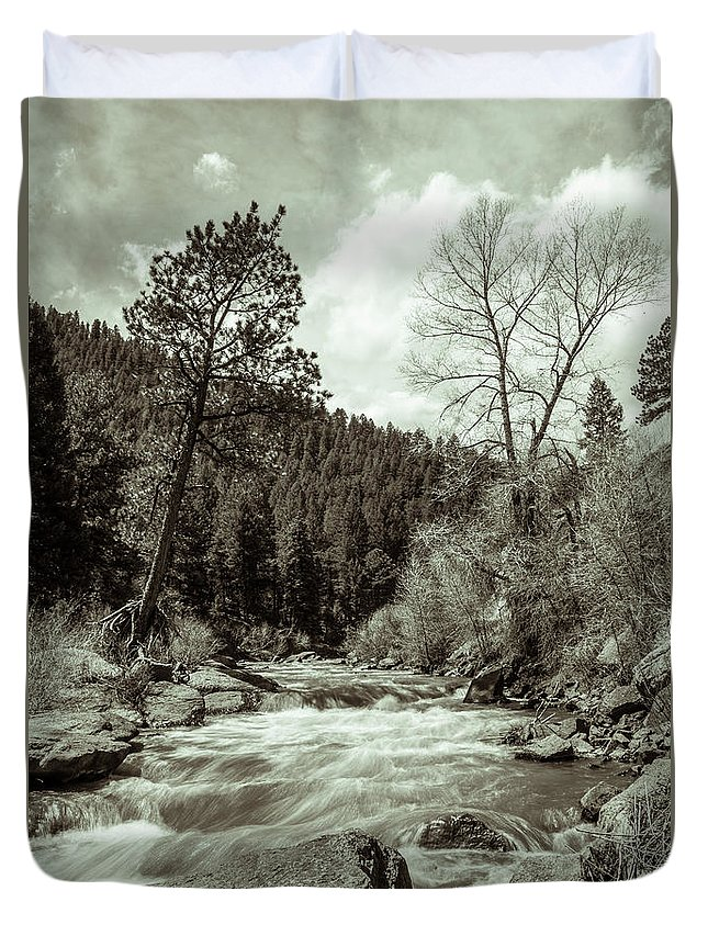 Artisans Duvet Cover featuring the photograph Rapids During Spring Flow On The South Platte River by Cary Leppert