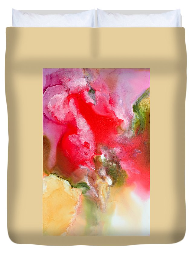 Abstract Duvet Cover featuring the painting Rapture - B - by Sandy Sandy