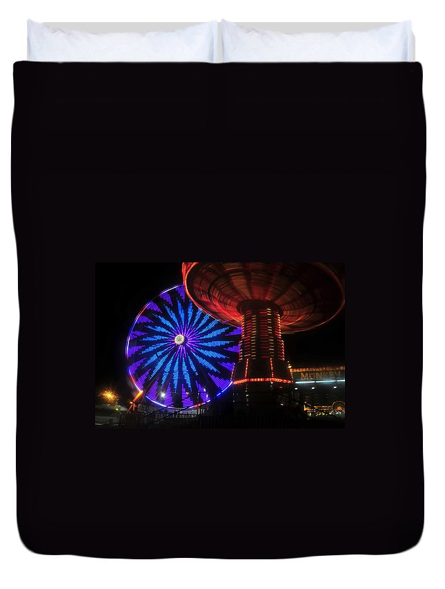 Florida State Fair Duvet Cover featuring the photograph Rare Light by David Lee Thompson