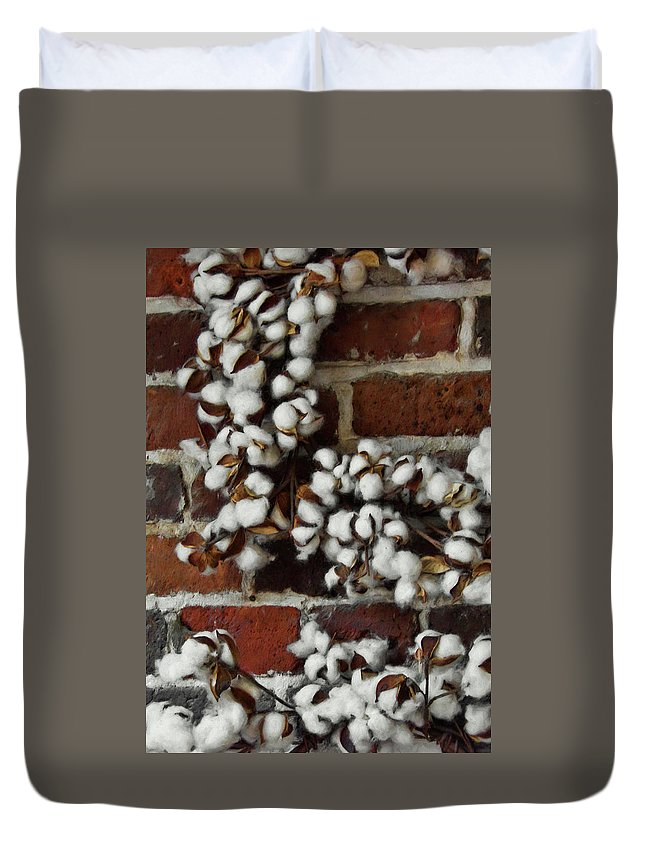 Cotton Duvet Cover featuring the photograph Raw Cotton by JAMART Photography