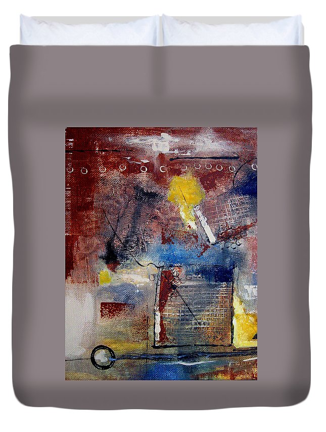 Abstract Duvet Cover featuring the painting Raw Emotions II by Ruth Palmer