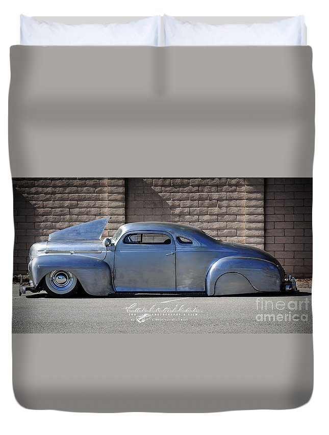 34 Th Annual Westcoast Kustoms Cruising Nationals Duvet Cover featuring the photograph Raw Steel by Customikes Fun Photography and Film Aka K Mikael Wallin