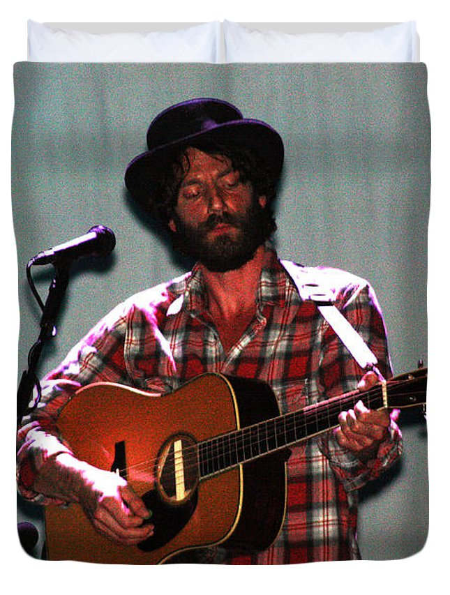 Ray Lamontagne Duvet Cover featuring the photograph Ray Lamontagne-9040 by Gary Gingrich Galleries