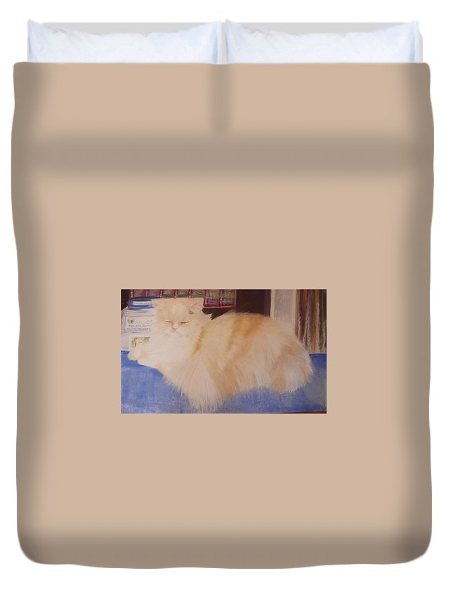 Rea Duvet Cover featuring the pastel REA by Catt Kyriacou