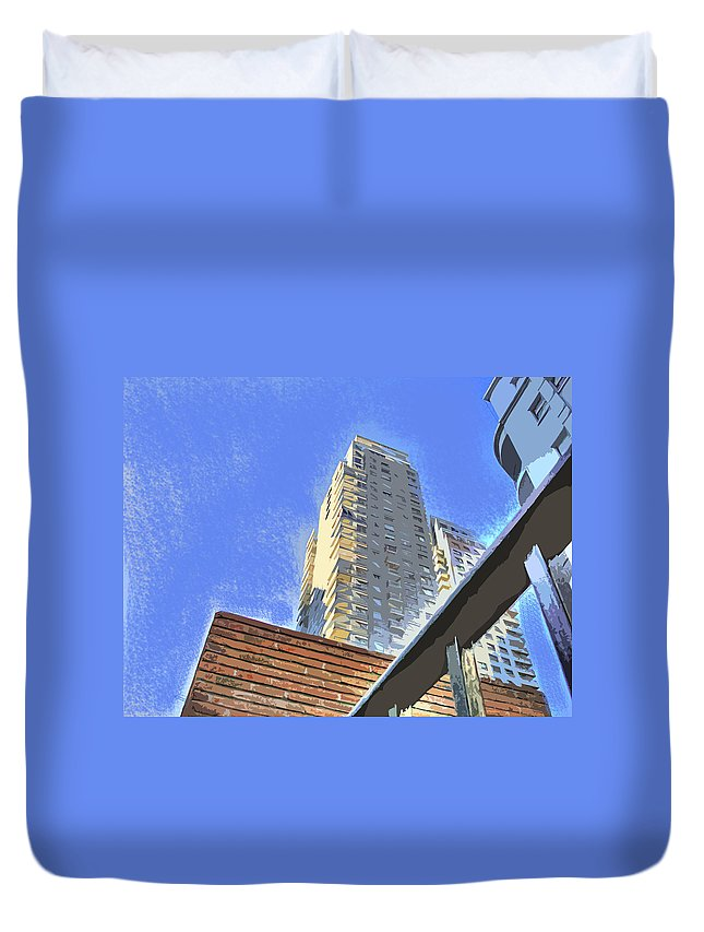 Building Duvet Cover featuring the photograph Reaching For The Sky by Francisco Colon