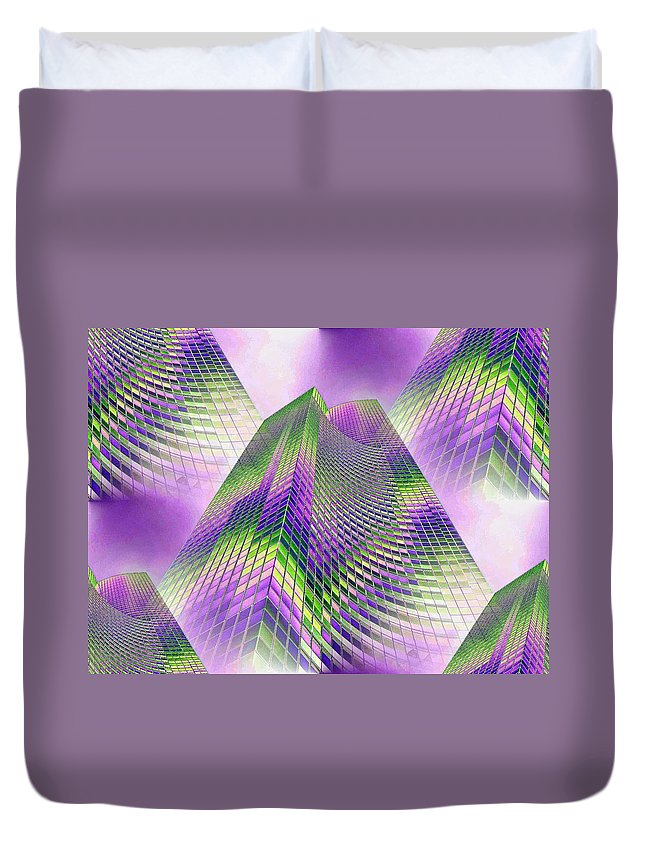 Seattle Duvet Cover featuring the photograph Reaching Skyward by Tim Allen