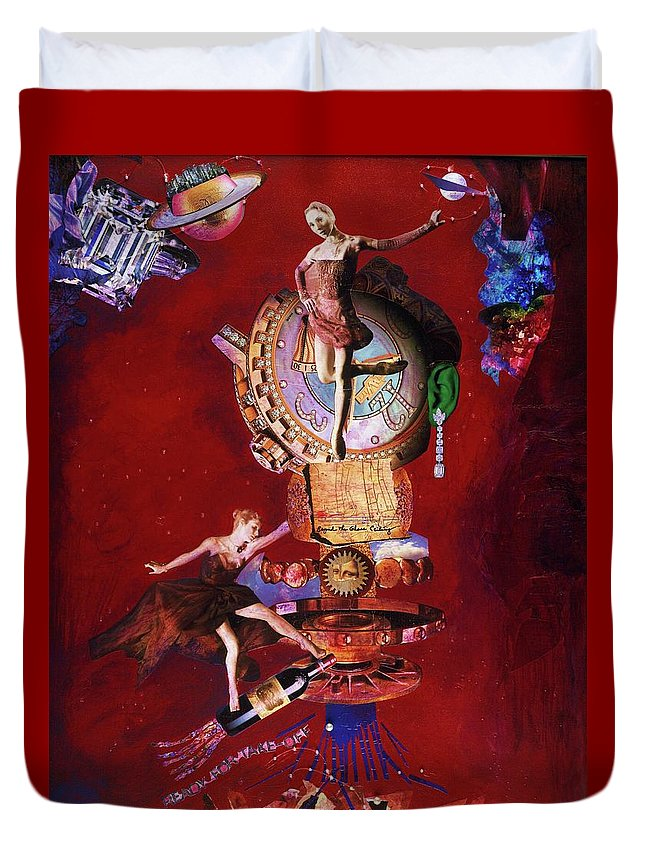 Takeoff Duvet Cover featuring the mixed media Ready For Takeoff - Me Too by Barbara Jean Lloyd