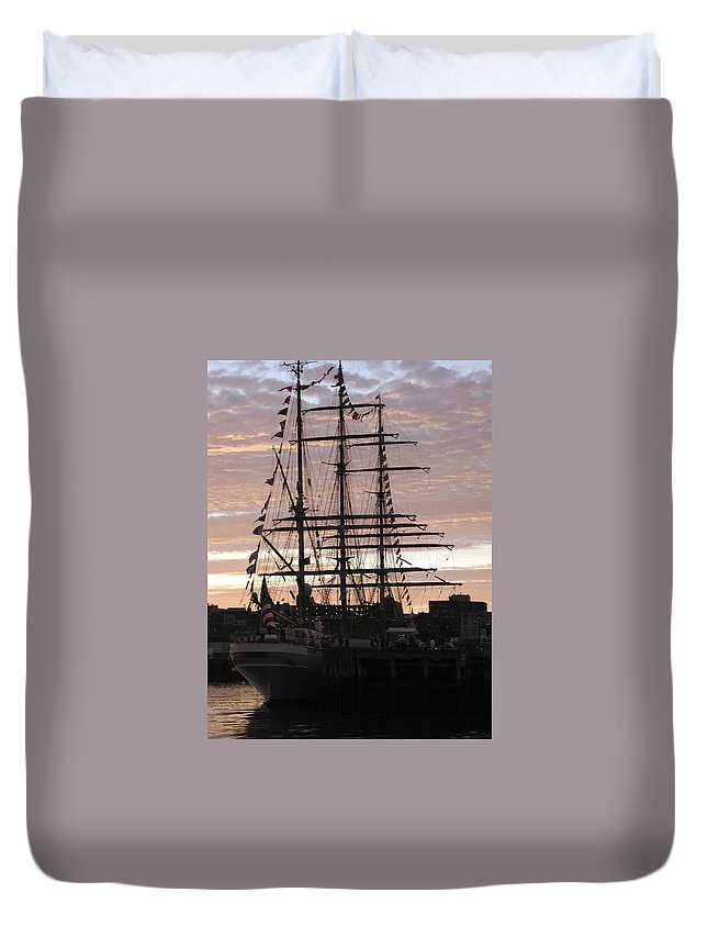 Eagle Duvet Cover featuring the photograph R'eagle Sunset by Faith Harron Boudreau