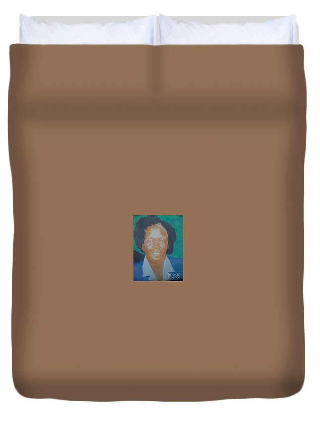 Duvet Cover featuring the painting Realism Painting by Washington Magua
