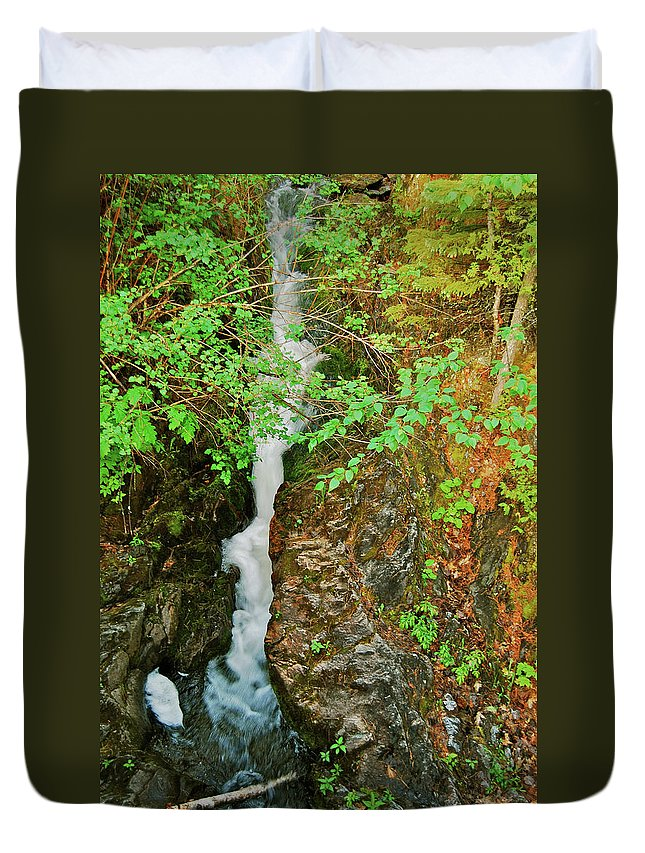 Reany Falls Duvet Cover featuring the photograph Reany Falls 4548 by Michael Peychich