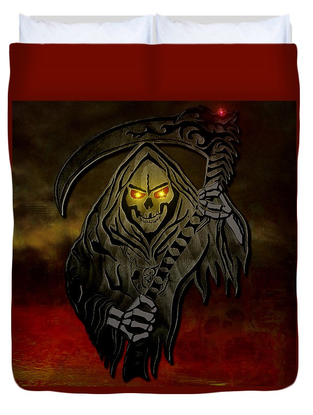 Reaper Duvet Cover featuring the digital art Reaper by Michael Bergman