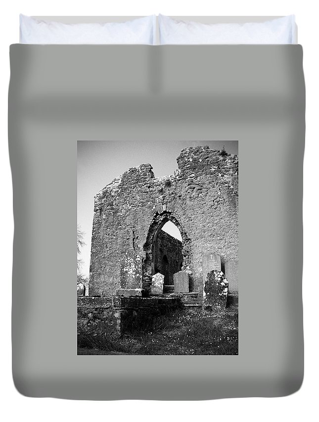 Ireland Duvet Cover featuring the photograph Rear Entrance Fuerty Church Roscommon Ireland by Teresa Mucha
