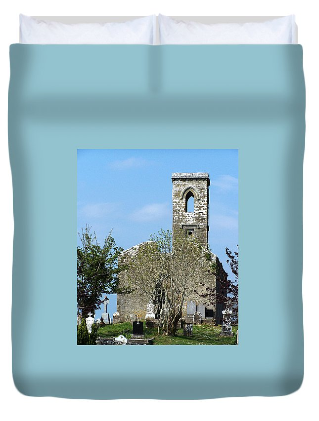 Fuerty Duvet Cover featuring the photograph Rear View Fuerty Church And Cemetery Roscommon Ireland by Teresa Mucha