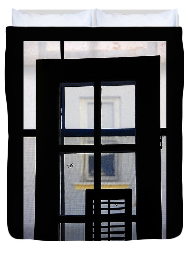 Architecture Duvet Cover featuring the photograph Rear Window 2 by Skip Hunt