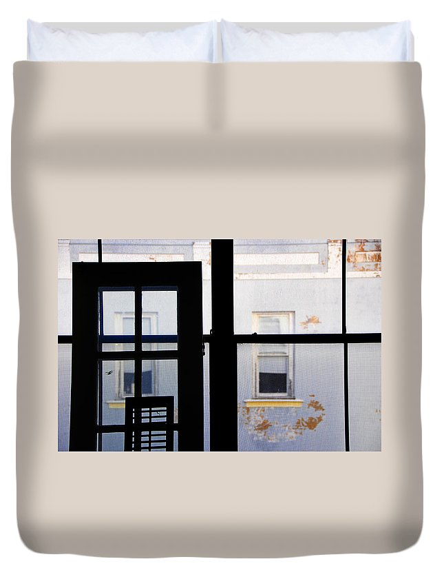 Architecture Duvet Cover featuring the photograph Rear Window 3 by Skip Hunt