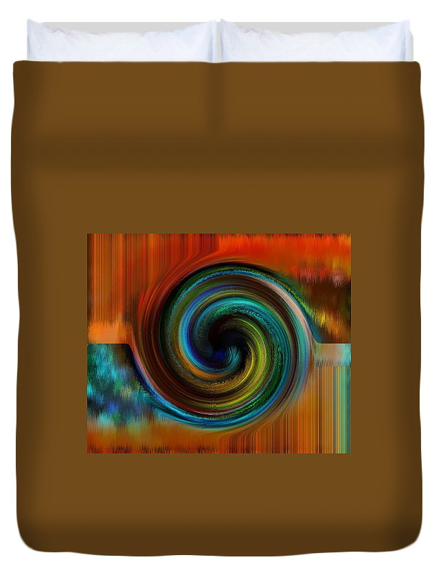 Abstract Duvet Cover featuring the digital art Reasoning by Gwyn Newcombe