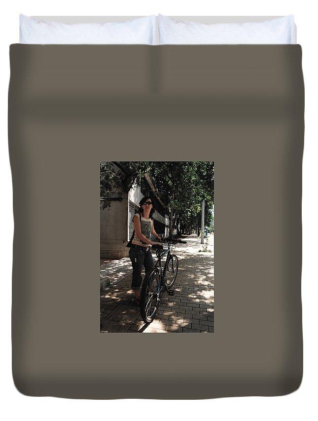 Bike Duvet Cover featuring the photograph Rebel by David Cardona