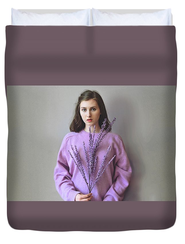 Concept Duvet Cover featuring the photograph Rebirth by Chantal Van den Broek