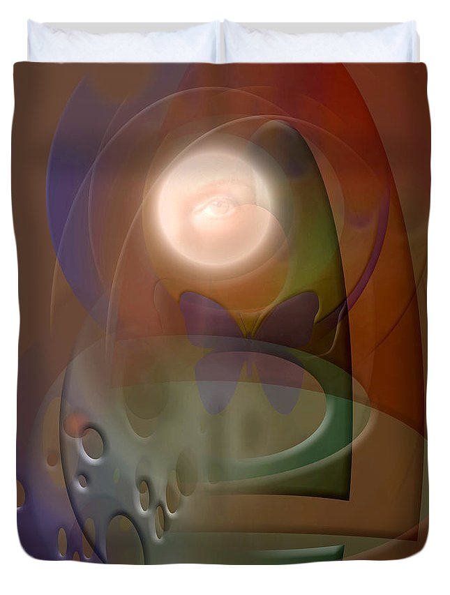 Abstract Duvet Cover featuring the digital art Rebirth by Stephen Lucas