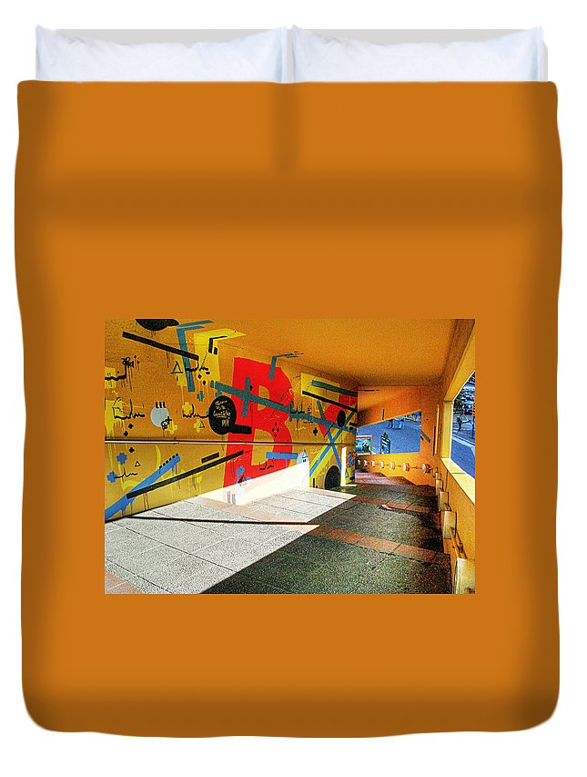 Tunnel Duvet Cover featuring the photograph Recoleta Tunnel by Francisco Colon