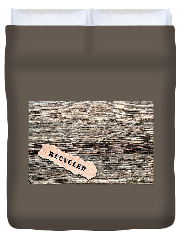 Wood Duvet Cover featuring the photograph Recycled Wood by Olivier Le Queinec